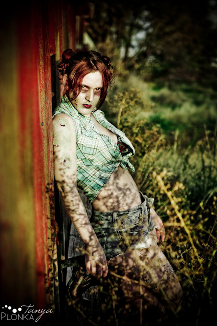 pin up zombie makeup. Though Cassandra is great at zombie makeup herself (she did the makeup for