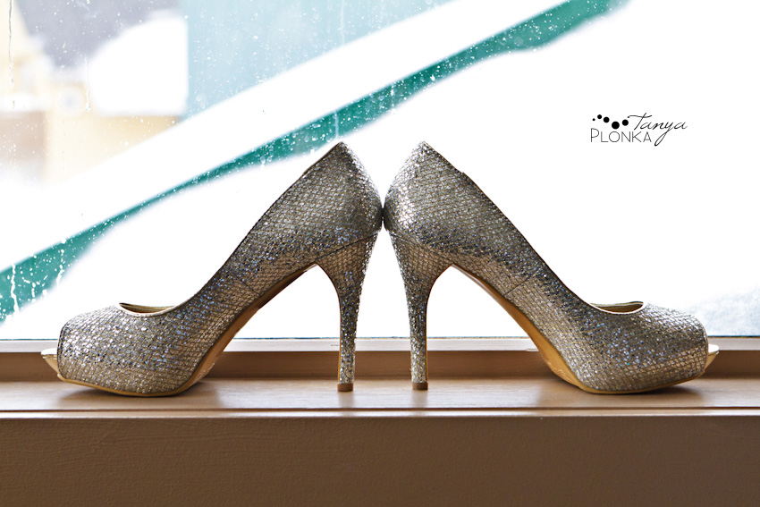 Sparkling high heel shoes