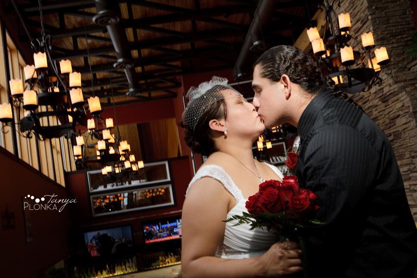 Sharing a kiss at the Waterton Lakes Resort