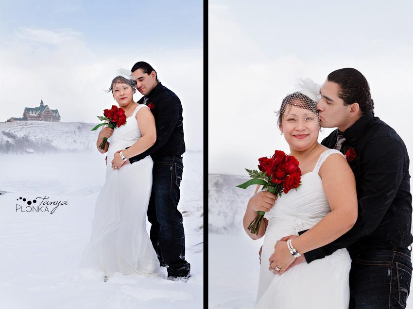 Waterton winter wedding photos
