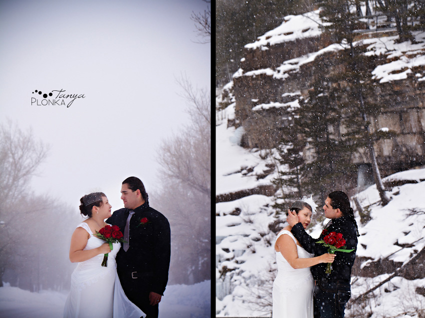 Waterton winter wedding photos