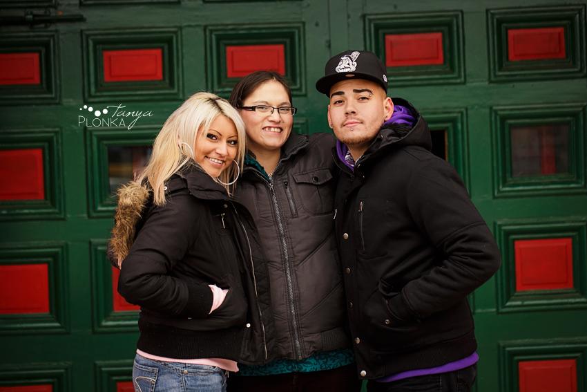photo of three adult siblings in Lethbridge