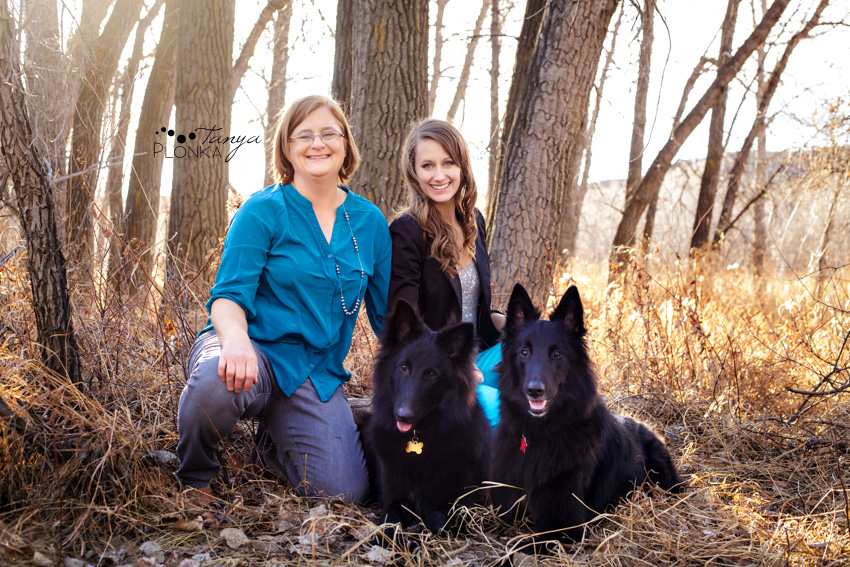 Photo of family with black dogs in Lethbridge