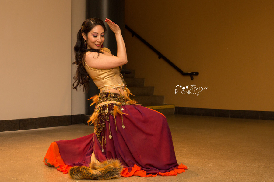 Lana Gabor art opening and dance performance, Lethbridge, Alberta