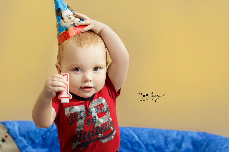 One year old boy, children photography Lethbridge
