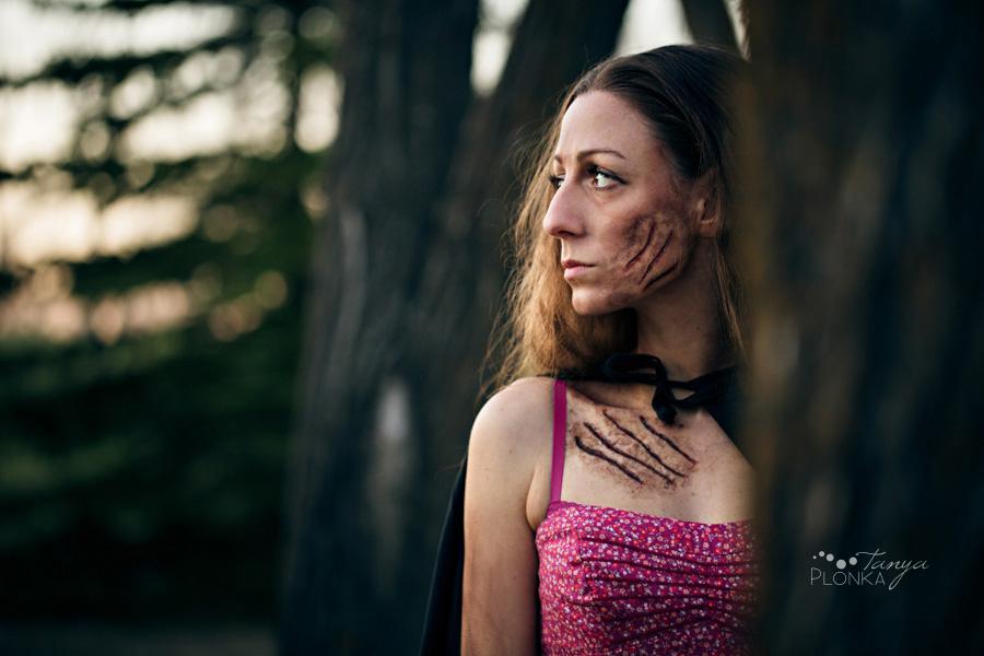 Werewolf heart series, photo of girl transforming into werewolf