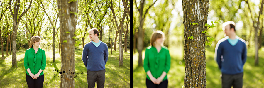 Lethbridge engagement photos in spring at the University of Lethbridge
