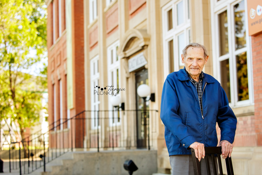 Lethbridge 100 year old man portraits