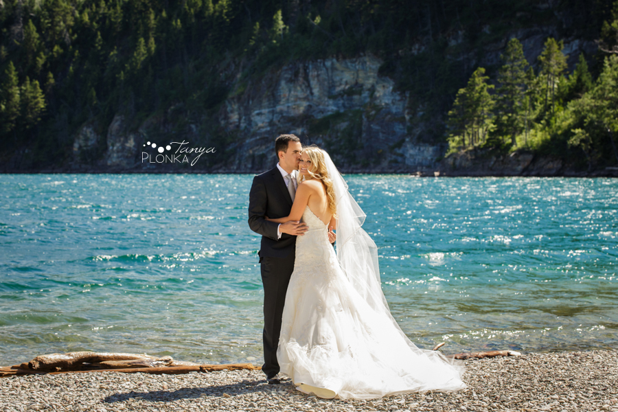Renzo and Erin, Waterton Destination Wedding