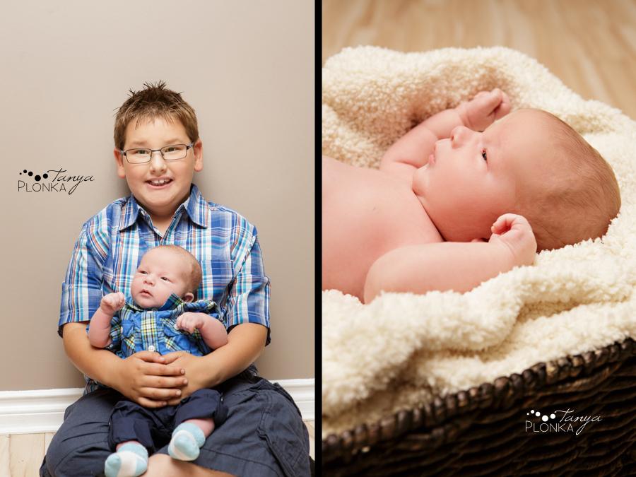 Lethbridge newborn photos baby boy with older brother