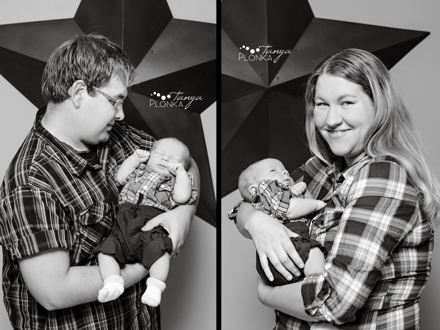 Lethbridge newborn photos baby boy with mom and dad