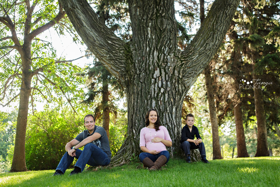 Lethbridge maternity photos, family with young boy