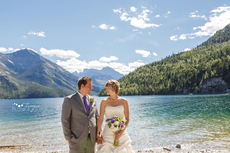 Alison and Sean, Waterton wedding photos