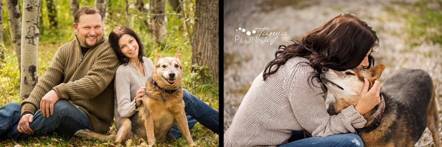 Beaver Mines couple photos on farm with dog