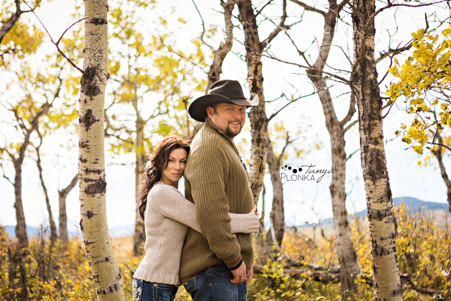 Beaver Mines couple photos on farm, hugging in trees
