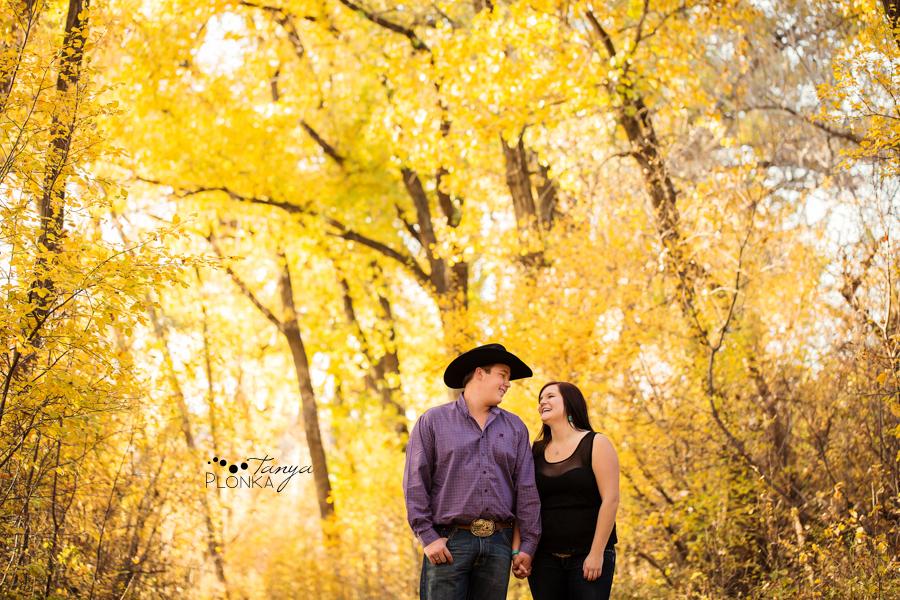 Lethbridge couple photos in autumn