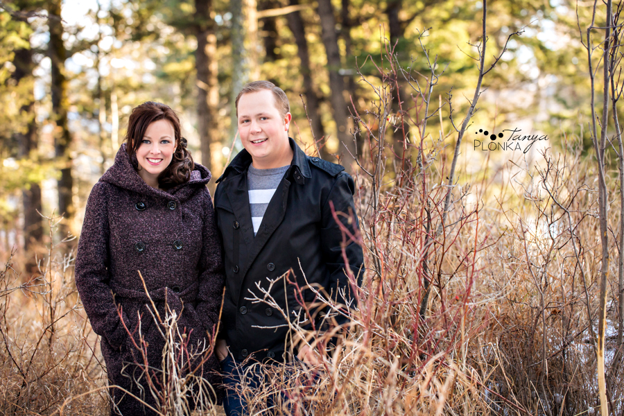 Crowsnest Pass engagement photos in winter