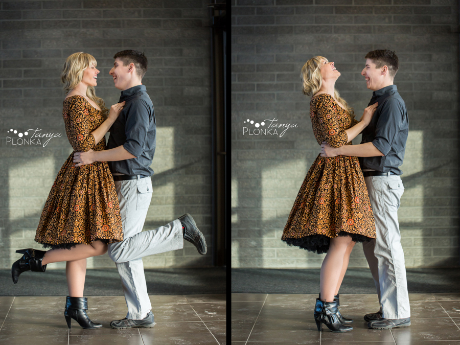 indoor Lethbridge winter engagement session