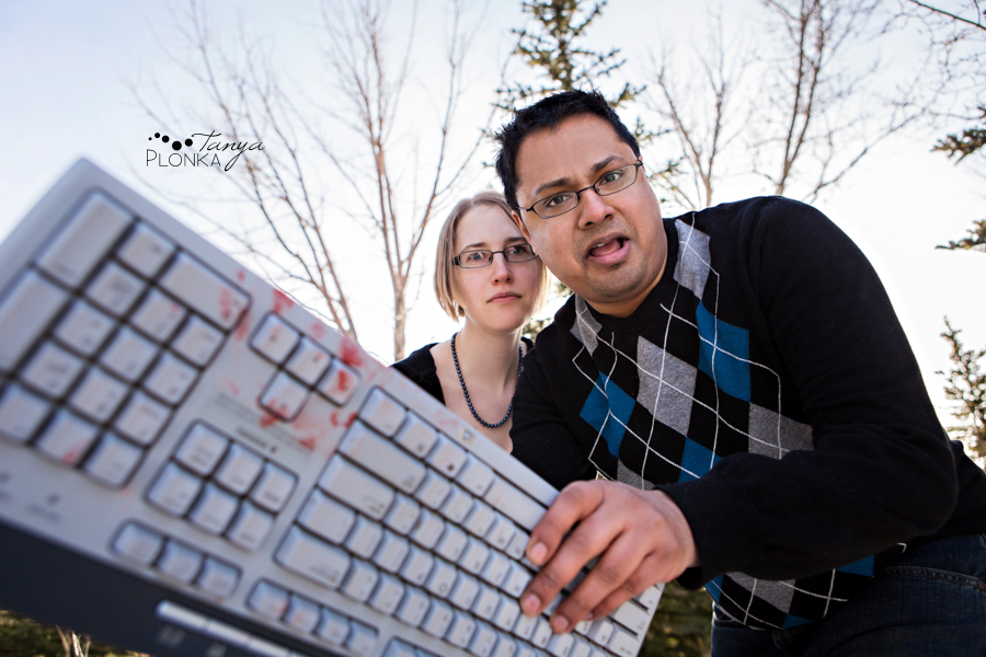 Lethbridge zombie engagement session