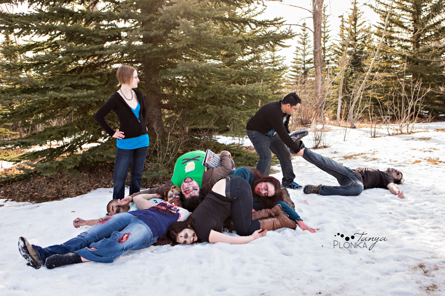 Lethbridge zombie engagement photos