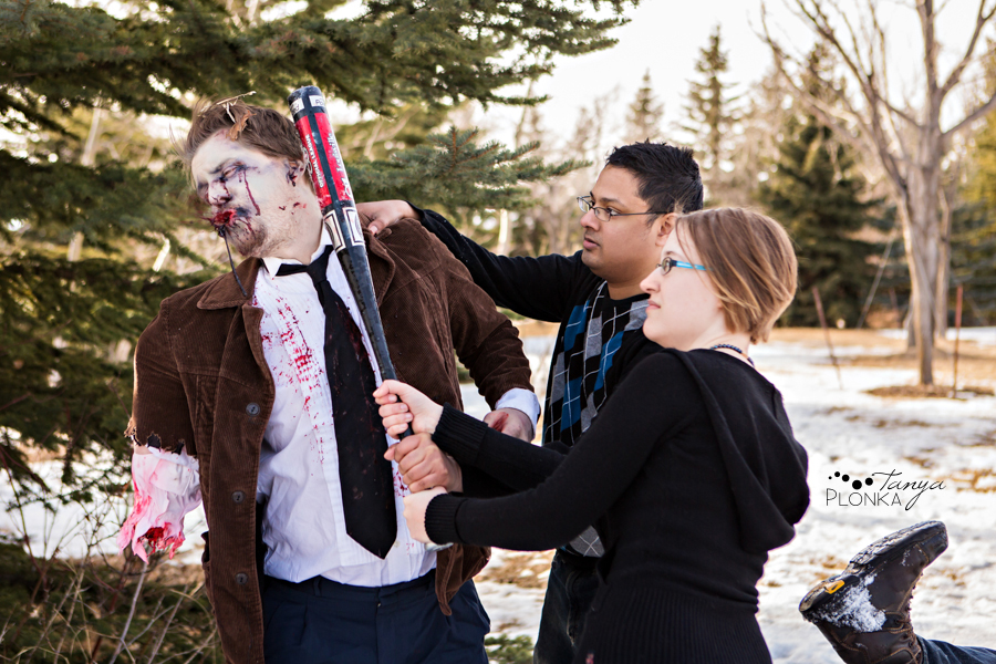 Lethbridge zombie engagement photo shoot