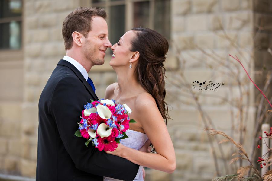 Eric & Edina, downtown Calgary winter wedding