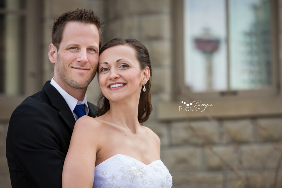 Eric & Edina, Calgary Lougheed House wedding Calgary Tower