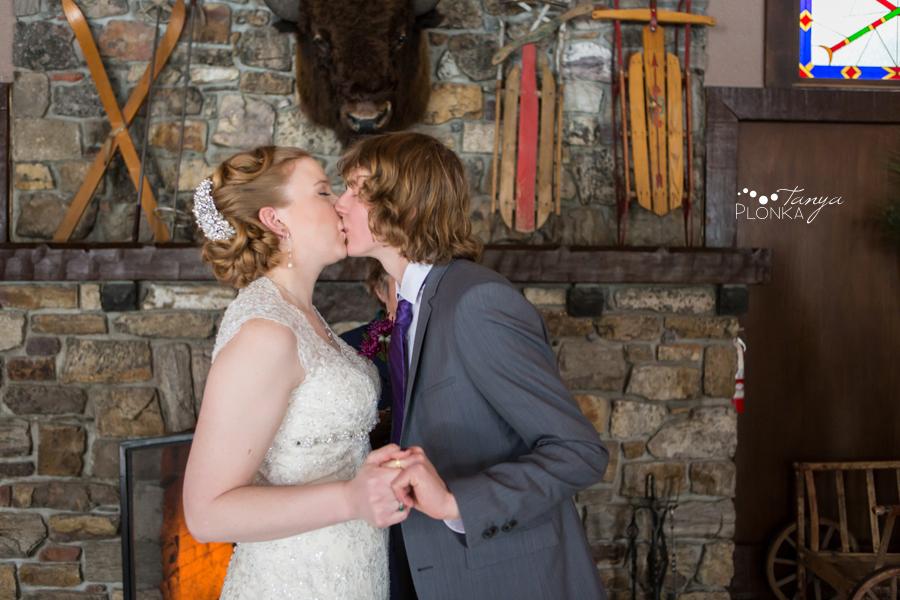 Alex and Erika, Lake Louise indoor winter wedding