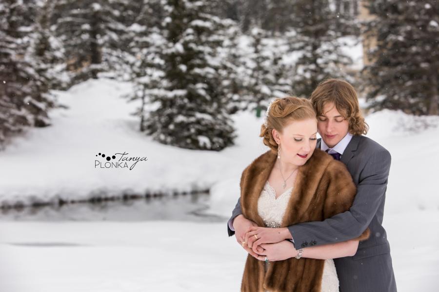 Alex and Erika, Lake Louise snowy winter wedding