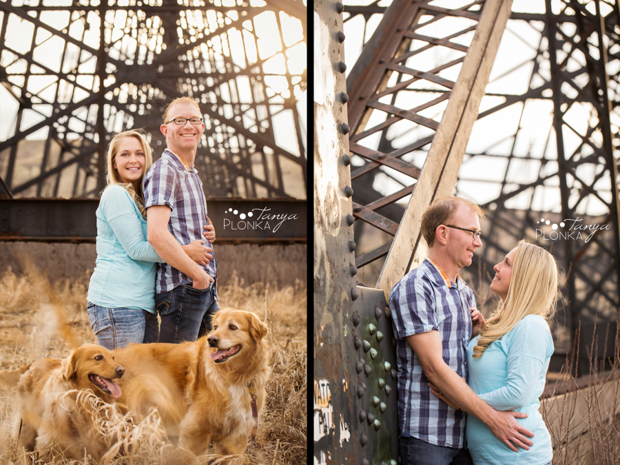 Lethbridge spring coulee portraits with dogs