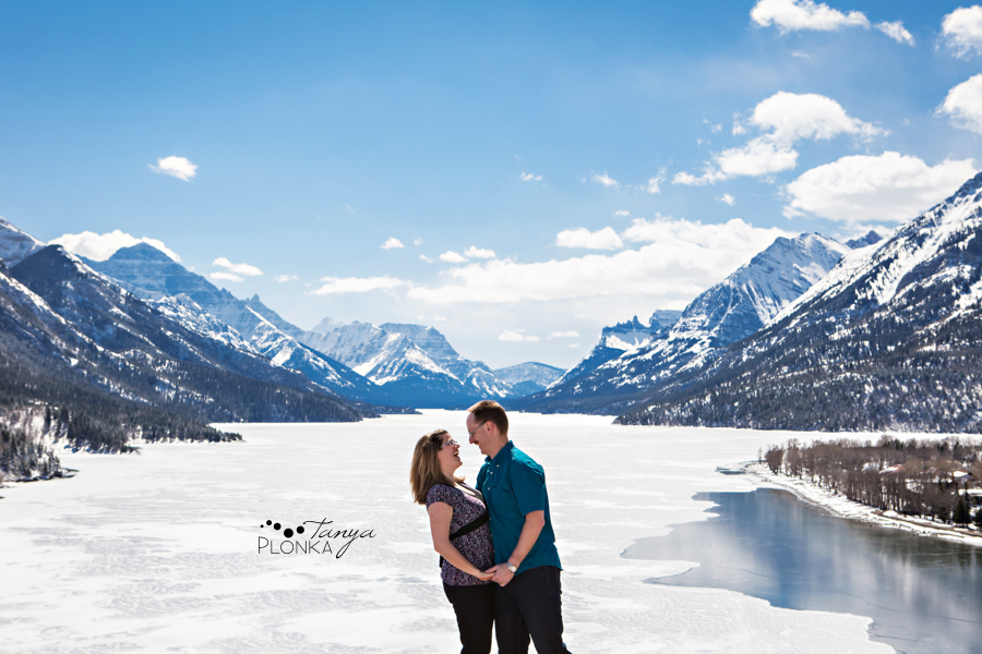 Waterton spring engagement photos
