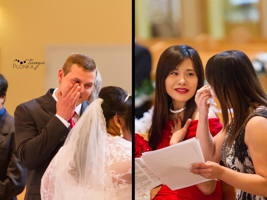 Michelle & Oscar, snowy Blairmore wedding