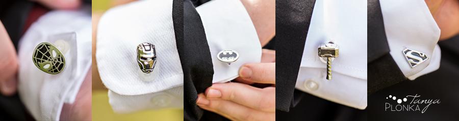 superhero wedding cufflinks