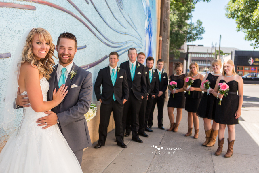 Drew and Alyssa, downtown Lethbridge wedding photos