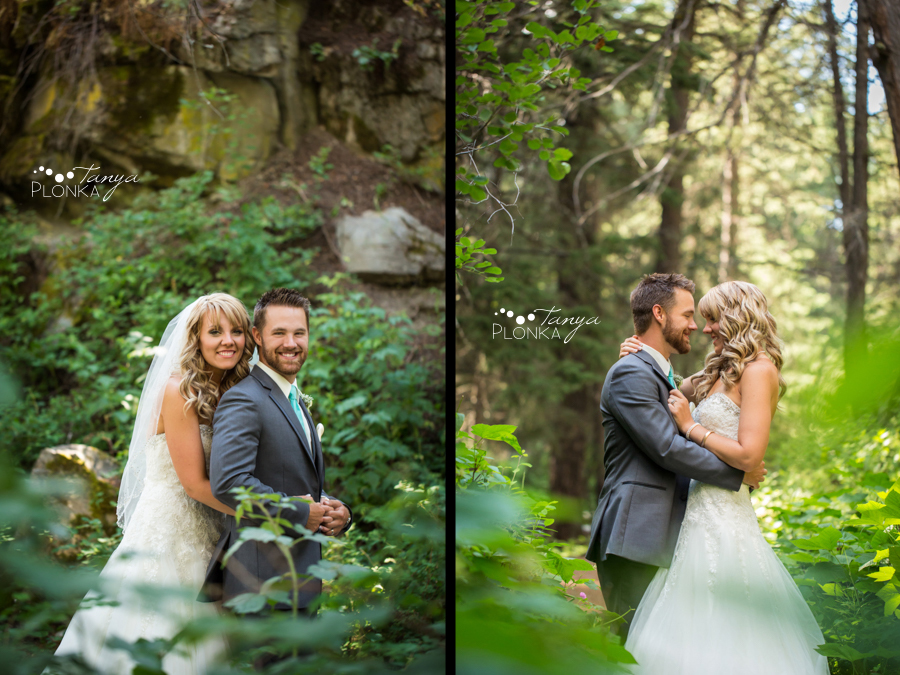 Drew and Alyssa, mountain Alberta summer wedding photos
