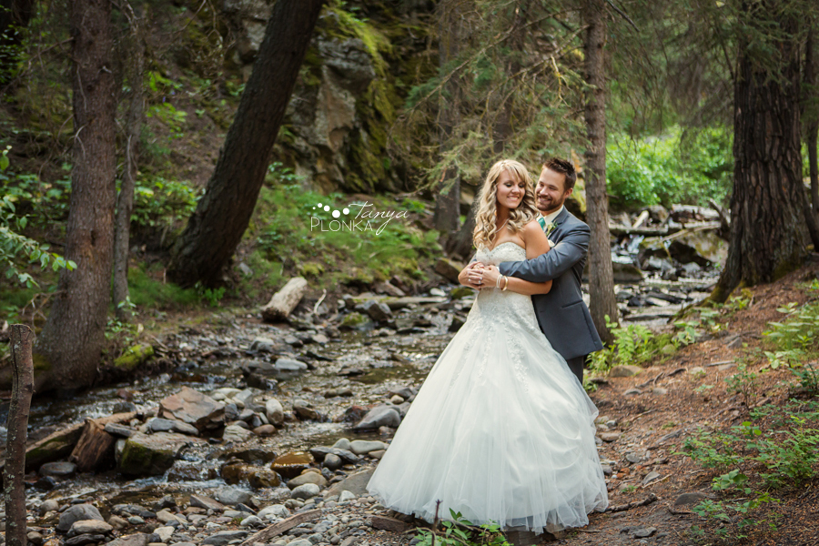 Drew and Alyssa, mountain summer wedding photos