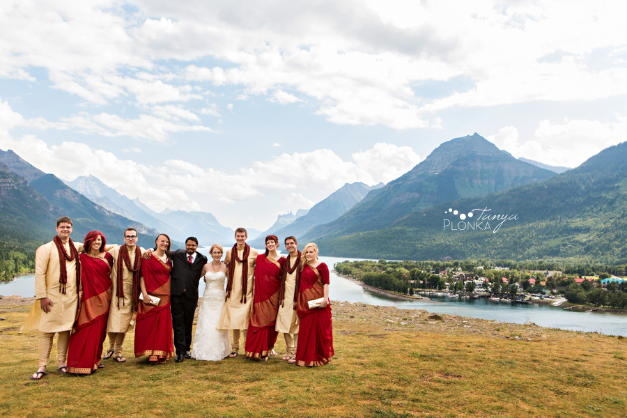 Shreyo & Lorianne, Waterton Indian summer wedding