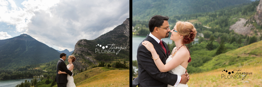 Shreyo & Lorianne, Waterton Indian ceremony wedding