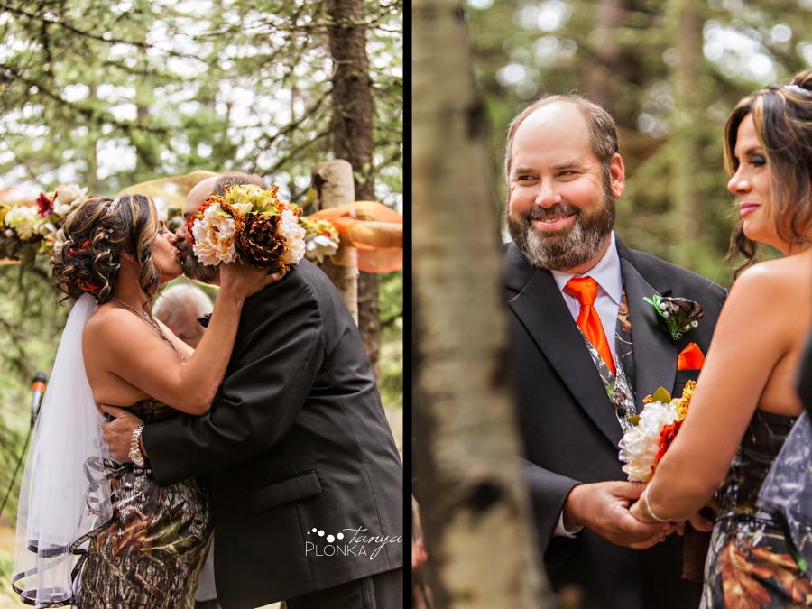 Anna & Allen, Castle Mountain outdoor rustic wedding