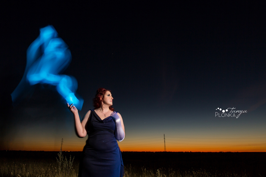 Lethbridge fantasy light painting night portraits