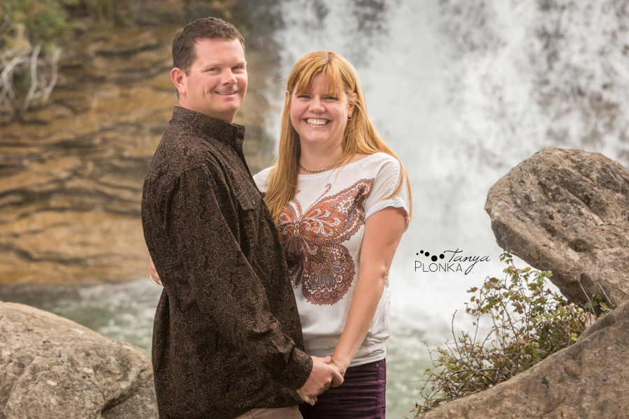 Lundbreck Falls autumn engagement session