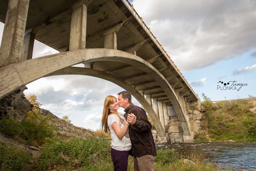 Lundbreck Falls engagement session