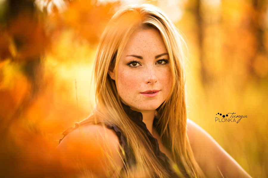 Women's outdoor Lethbridge autumn portraiture