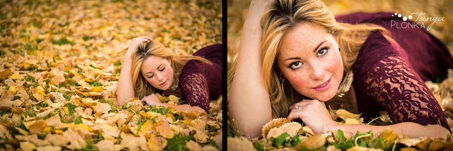 Women's outdoor Lethbridge autumn photos