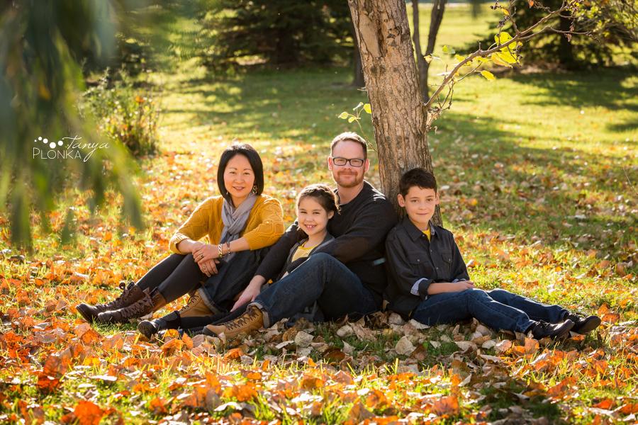 Lethbridge autumn colors family portraits