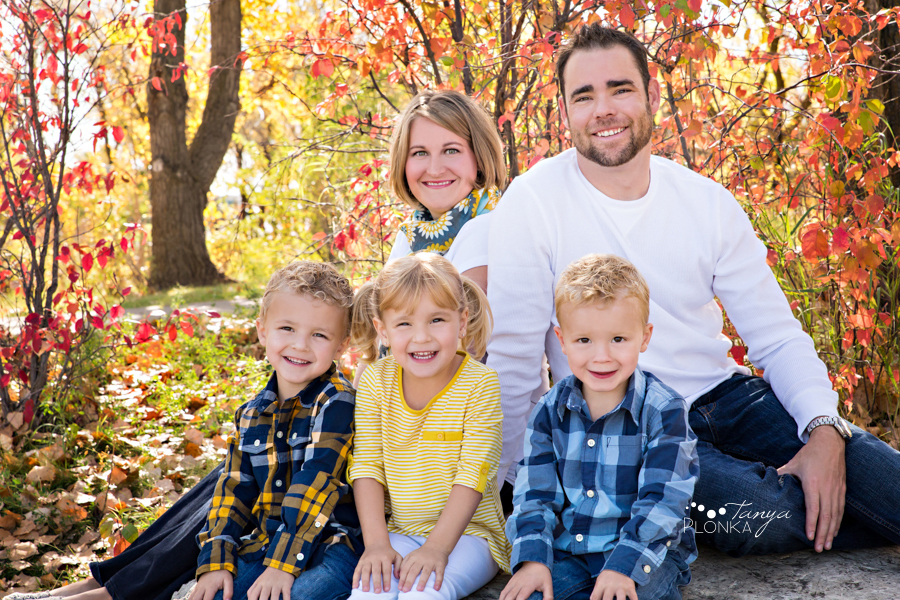 Lethbridge triplets family photos