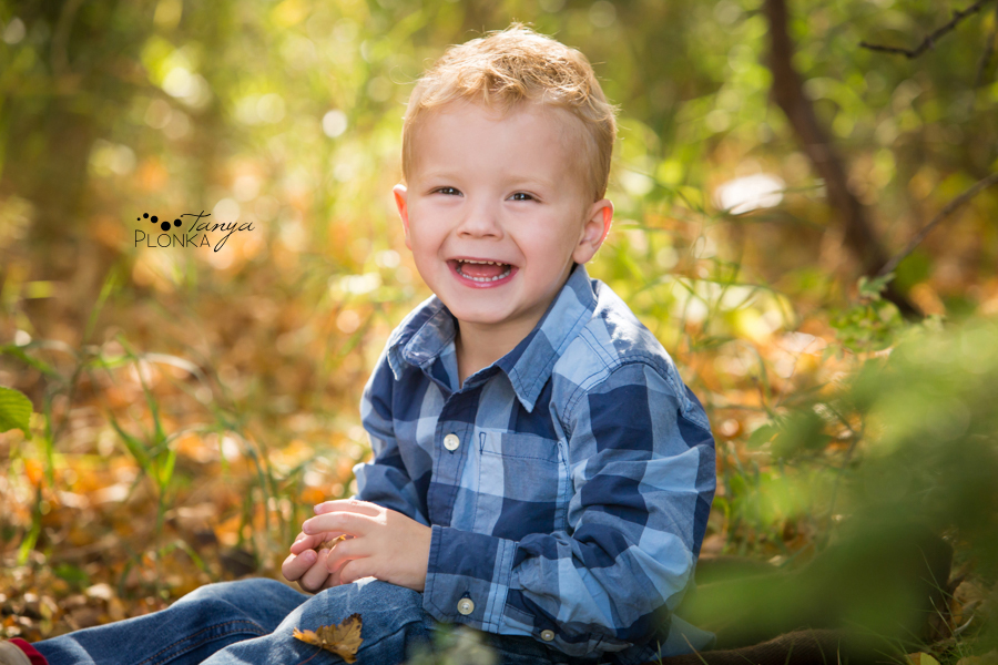 Lethbridge triplets autumn family photos