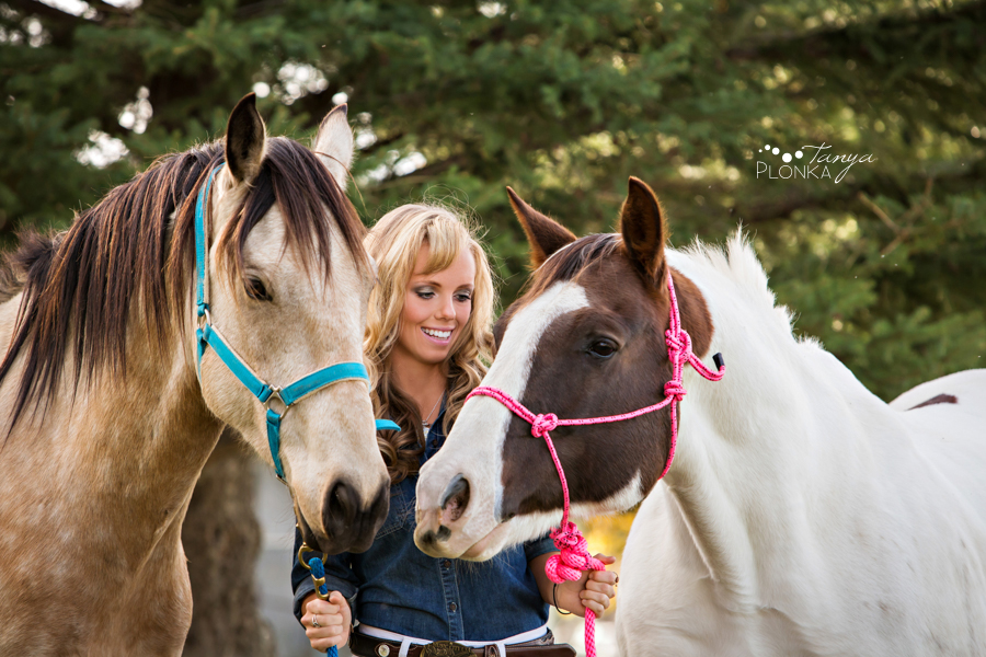 Taber teen girl and horses portraits
