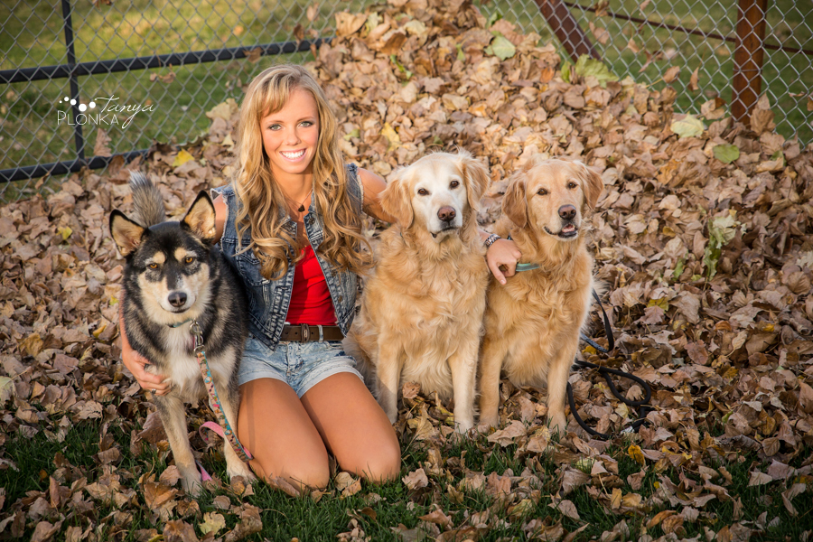Taber teen girl and dogs portraits
