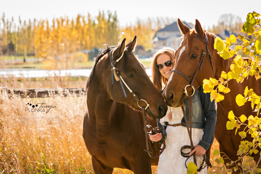 Lethbridge autumn horse portraits